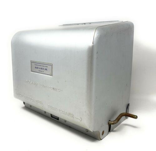 Vintage Mosinee Paper Towel Dispenser Push Button Hand Crank Metal