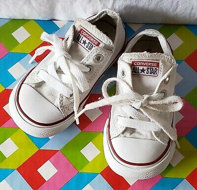 Converse All Star Toddler Size 6 Boy's/Girl's White Low Shoes