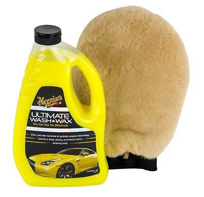 MEGUIAR'S MEGUIARS Ultimate Wash & Wax Autoshampoo & Waschhandschuh Lammwolle