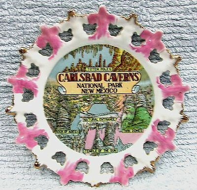 "Carlsbad Caverns National Park New Mexico Rock of Ages Vintage 8"" Plate FREE S/H"