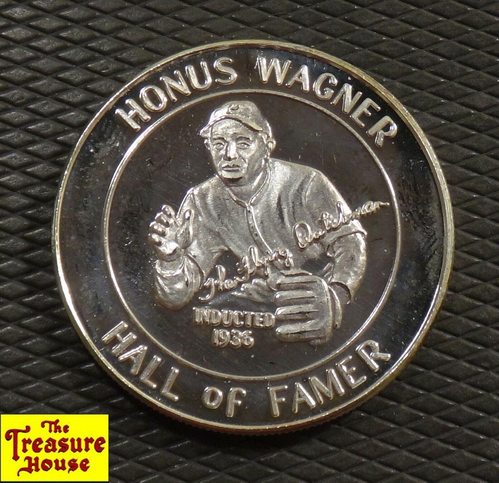 Vintage honus wagner .999 fine silver 1 oz-t baseball hall of famer proof round