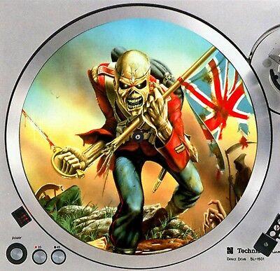 "Iron Maiden Eddie #6 Trooper Turntable Slipmat 12"" LP Record Player Slip Mat x1"
