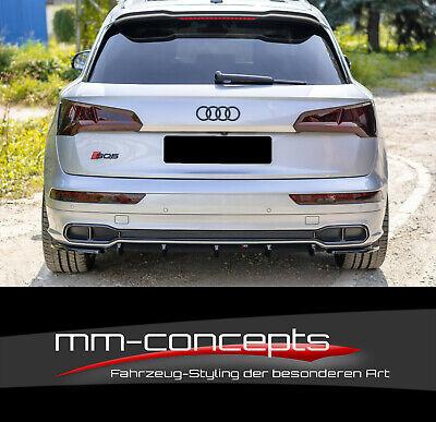 Heckansatz Heckspoiler Diffusor für Audi Q5 8R schwarz glänzend NICHT S-line