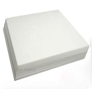 STABILISER EMBROIDERY BACKING WHITE 100 SQUARES  20cm X 20cm