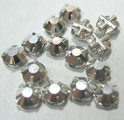 Preciosa Czech Rose Montees Silver Labrador 4mm SS16 Silver Plated 25 Beads