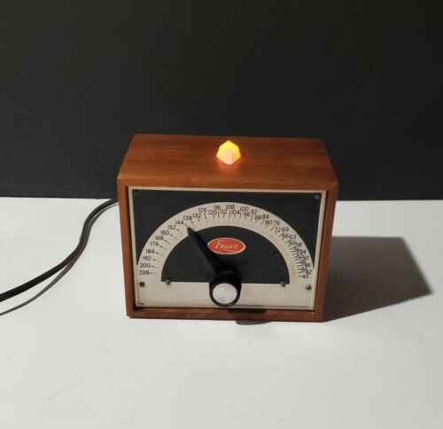 Vintage Franz LM-FB-5  Electric Metronome Solid Walnut Cover  *TESTED*