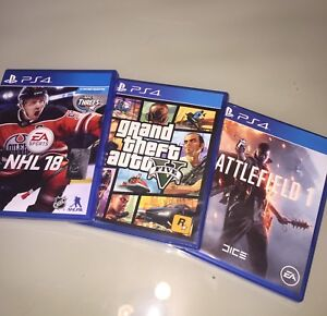 Nhl 18 , GtaV, battlefield 1 PS4