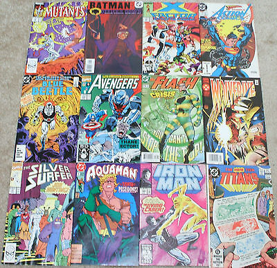 15x Marvel/DC Comics SUPERMAN, X-MEN, AVENGERS, IRON MAN, FANTASTIC FOUR, ETC.