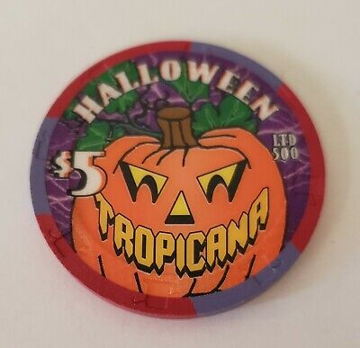 $5 Las Vegas Tropicana Happy Halloween  Casino Chip 2002 - Uncirculated