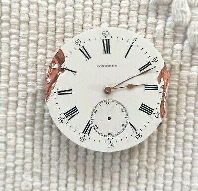OLD LONGINES MANUAL WIND POCKETWATCH MOVEMENT STEM AT 3 FOR REPAIR