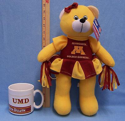 University Of Minnesota Gopher Plush Cheerleader U of M Duluth Coffee Cup Mug