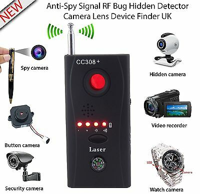Hidden Camera GSM Audio Bug Detector Anti Spy Finder GPS Signal Lens RF Tracker