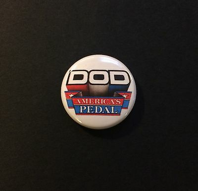 "DOD Vintage 80s Logo America's Guitar Pedal 1"" Button Pin Badge FX20 FX25 FX60"