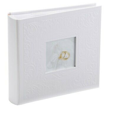 Kenro Pearl White Ring Design Floral Wedding Album 200 Photos 6x4 Inch - PL203  Contemporary Design Wedding Ring