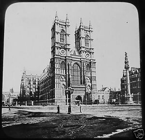 Glass-Magic-lantern-Slide-WESTMINSTER-CATHEDRAL-C1890-VICTORIAN-LONDON
