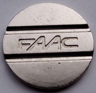 FAAC Fabbrica Automatismi Apertura Cancelli Parking Token 28mm 8g Cu-Ni GG8.2