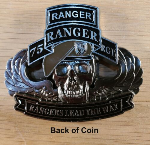 """75th Ranger Regiment US Army Commemorative Challenge Coin 4"""" 147"""