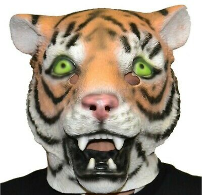 Tigermaske Latex Tiermaske Halloween-Party-Kostüm (Tiger) ()