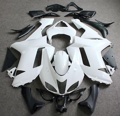 2007-2008 Kawasaki Ninja ZX6R ZX600P Unpainted ABS Fairings Kits Bodywork SET
