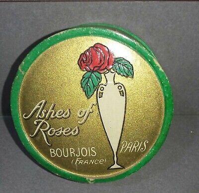 VINTAGE Ashes of Roses Bourjois Paris France Rosette Blonde ROUGE Cardboard Box
