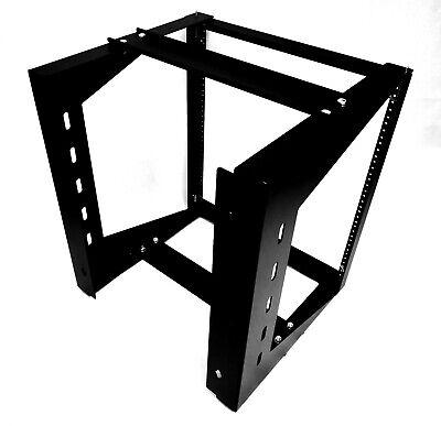 "Wall Mount IT Open Frame Swing Out Network Rack Hinged Black 19"" Tap 12U comprar usado  Enviando para Brazil"