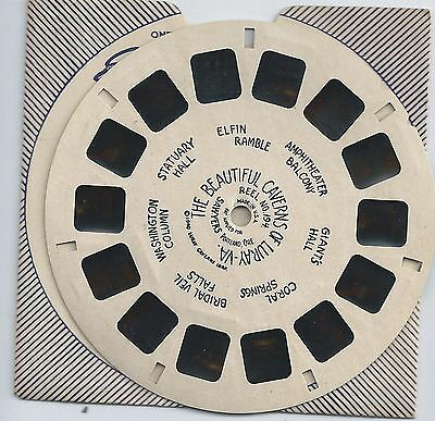 194 The Beautiful Caverns of Luray Va Hand-lettered View-master Reel Style 1