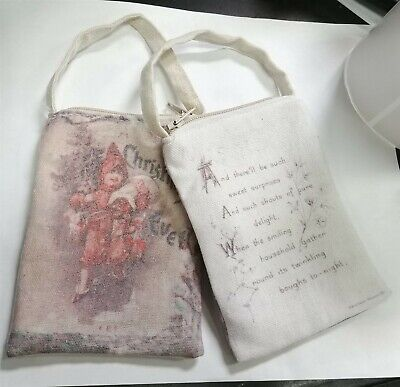Victorian Trading Co 2 Santa Gift Card Bags Vintage Art Christmas Ornaments