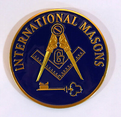International Mason Masonic Auto Emblem-New!