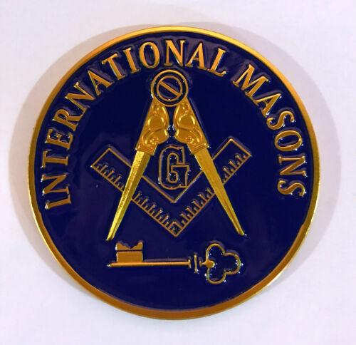 International Mason Masonic Auto Emblem-New!