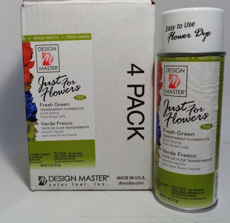 Design Master Just For Flowers, Fresh Green #133 Transparent Flower Dye [4 Pack]