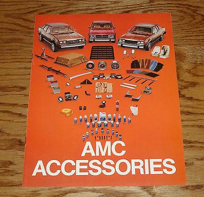 Original 1982 AMC American Motors Accessories Sales Brochure 82 Eagle Spirit