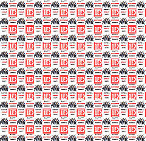 Personalised Gift Wrapping Paper Music ONE DIRECTION Birthday  Any Name! 1DBRB