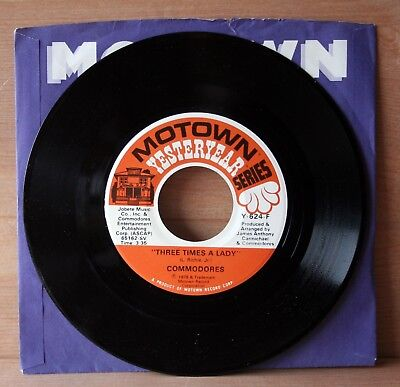 1978 Motown Records COMMODORES vinyl 45 rpm THREE TIMES super clean single EX+