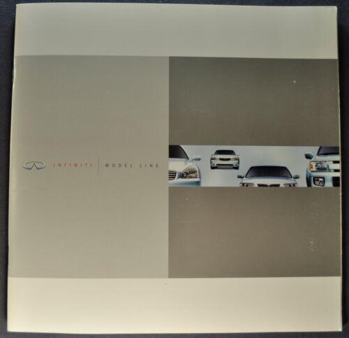 2001 Infiniti Catalog Brochure i30 QX4 2002 Q45 G20 Excellent Original 01