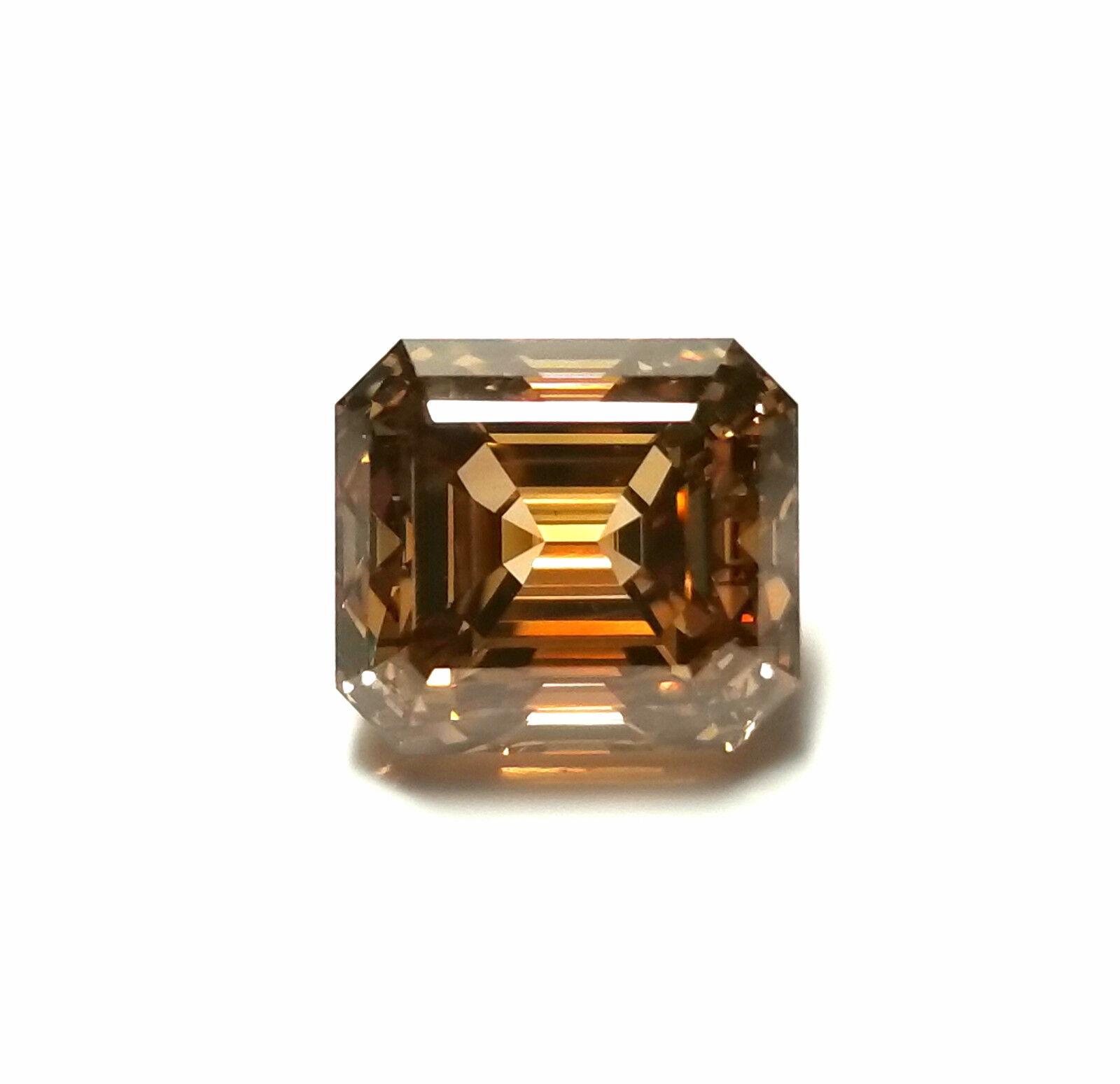 2.69ct Natural Loose Fancy Yellow Brown Diamond Emerald Asscher Cut GIA Argyle