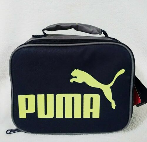 Puma Prime Insulated Cooler Lunch Box Navy Blue Yellow with