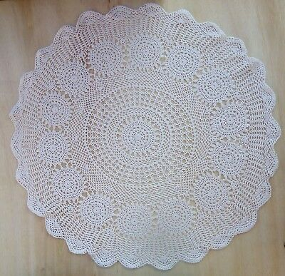 Tablecloth Crochet Napkin Doilies Large Round White