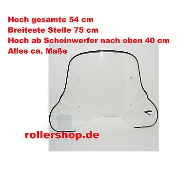 Windschild 50 cm Piaggio SKR 125, SKR 150 Fabbri