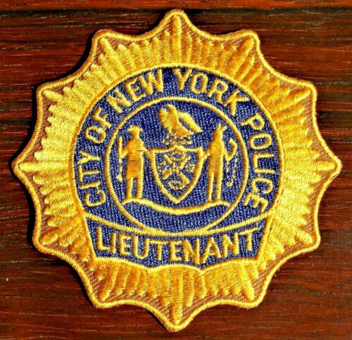GEMSCO NOS NYPD Collectible Patch POLICE LIEUTENANT RANK PATCH  NY Original 30+