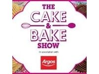 2 x tickets Cake and Bake show 9th October