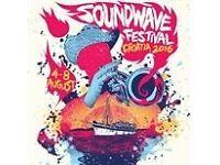 SOUNDWAVE FESTIVAL TICKETS, in Tisno, Croatia
