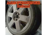 AUDI A3 A4 SET OF X4 ALLOYS WITH TYRES - PRE OWNED £180