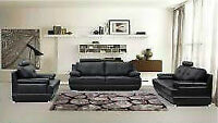 LEATHER SOFA, LOVE SEAT & CHAIR $61.11 a month