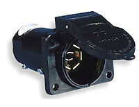 Audi-Socket-for-Towing-Hitch-Q5-Q7-7-Pin-Connector-Genuine-100-OEM-Audi-Parts