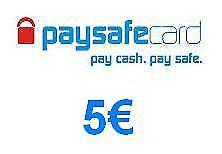 Paysafe Card Guthaben 5 € EURO Zahlungsmittel  Richtlinien bitte lesen