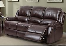 NEW in Boxes!!! Reclining Sofa in Brown or Black. *Layaway Available* Limited Stock!  Regular $1399 Now $999.