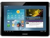 Samsung tab g2 10,,,,,,,,,,,,,with two cases one purple one black.......hardly used