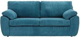 Two X 3 seater Rebecca Teal sofas