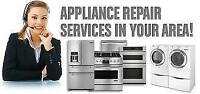 SAME DAY! In Home and Shop REPAIRS Fridge Stove Washer Dryer D/W
