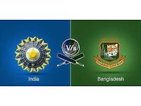 India v Bangladesh - SEMI FINAL 2 ICC Champions Trophy - Edgbaston - 6 GOLD seats together